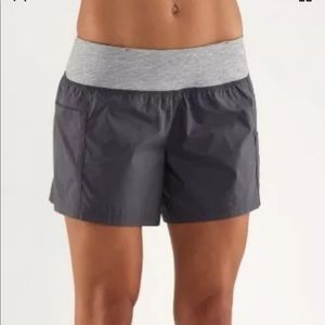 Lululemon All Sport Short Coal Gray size 4
